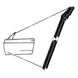 Vodící lišta skel (pár) 67-68