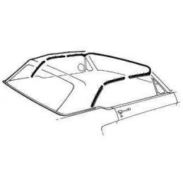 Těsnění střechy, kabrio 64-68